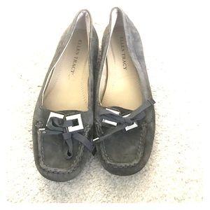 Gray Suede Ellen Tracy Shoes - Size 6